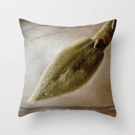Natural Paintbrush Throw Pillow
