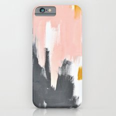 Gray and pink abstract iPhone 6s Slim Case