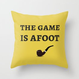 The Sherlock Holmes Quote II Throw Pillow