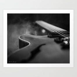 SEMI HOLLOW Art Print