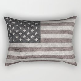 American flag, Retro desaturated look Rectangular Pillow