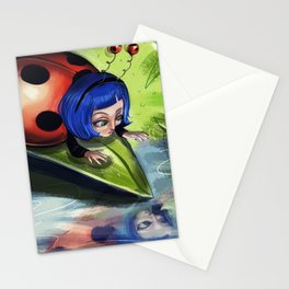 Bug Girls: Curious Lady Bug Stationery Cards