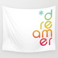 dreamer Wall Tapestries featuring dreamer by Zoo Lei