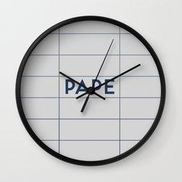 PAPE   Subway Station Wall Clock