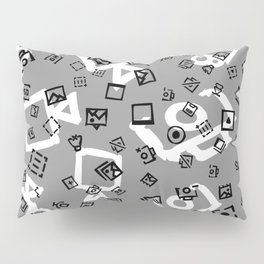 pattern with symbols of photos and videos Pillow Sham