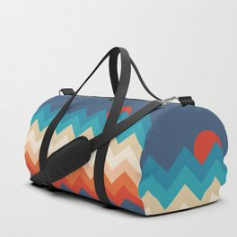 Vintage 70s Adventure on the Mountains Duffle Bag