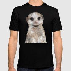 Little Meerkat Mens Fitted Tee MEDIUM Black