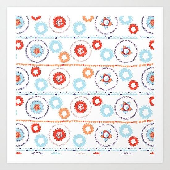 Kaleidoscope Stripes Art Print