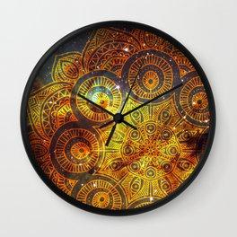 Space mandala 3 Wall Clock