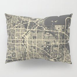 Denver map Pillow Sham