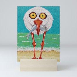 Cranky Seagull Mini Art Print