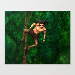 Pole Creatures - Faun Canvas Print