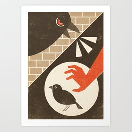 The Jackdaw (Fairy and Folk Tales of the Irish Peasantry) Art Print