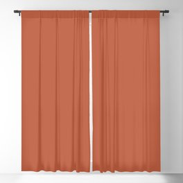 Burnt Orange Solid Color Pantone Spice Route 17-1345 Accent to Color of the Year 2021 Blackout Curtain