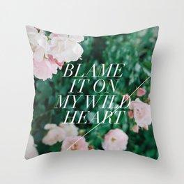 wild heart Throw Pillow