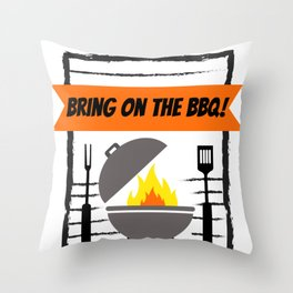 Grillmaster Bring on the BBQ! Grilling Throw Pillow