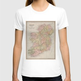 Vintage Map of Ireland (1883) T-shirt