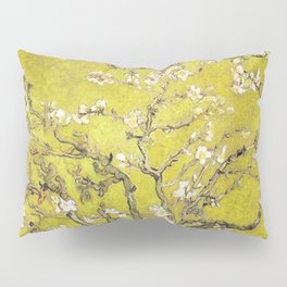 Vincent van Gogh Blossoming Almond Tree (Almond Blossoms) Gold Sky Pillow Sham
