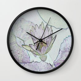 Waterlily Abstract Wall Clock