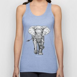 African Elephant Unisex Tank Top