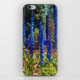 Delphinium Garden iPhone Skin