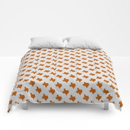 Texan texas longhorns orange and white university college football dots Comforters