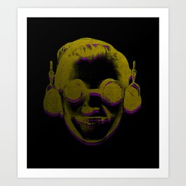 Headphone Kid Art Print