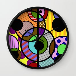 Patterned Retro - Geometric, Abstract Artwork Wall Clock