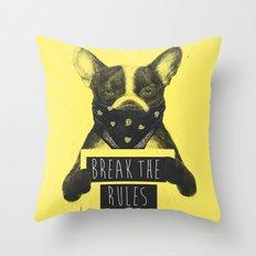 Rebel dog (yellow) Throw Pillow