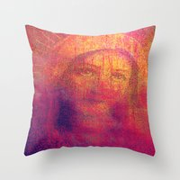 regina mills Throw Pillows featuring Salve Regina by Joe Ganech