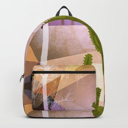 CACTUS INTO GEOMETRIC LANDSCAPE Backpack