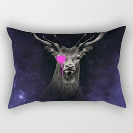 KING - stag antlers deers head, animal t shirt, animal print t shirt, wildlife t shirt, Rectangular Pillow
