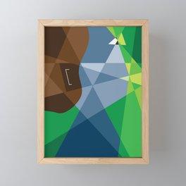 Faces Framed Mini Art Print