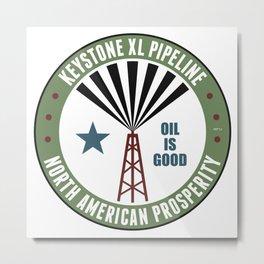 Keystone XL Pipeline Metal Print