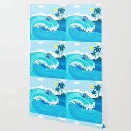 tardis in water waves Wallpaper