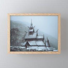 Borgund Stavkirke III Framed Mini Art Print