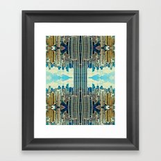 NYC in patterns Framed Art Print