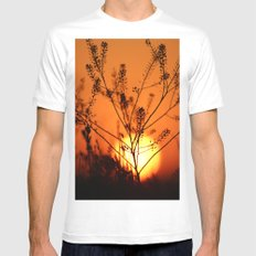 Goodnight Sun White MEDIUM Mens Fitted Tee