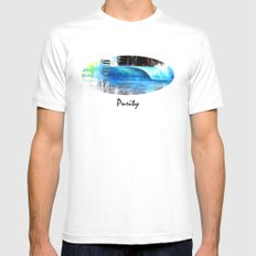 Purity MEDIUM White Mens Fitted Tee