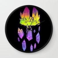 minerals Wall Clocks featuring they're minerals by HiddenStash Art