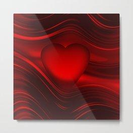 Red heart 16 Metal Print