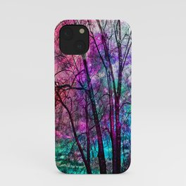 Purple teal forest iPhone Case