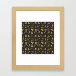 Decorative Christmas Patterns Framed Art Print