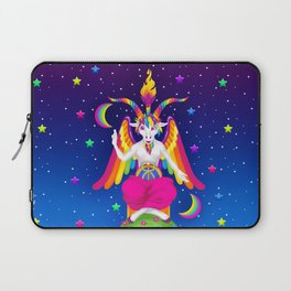 1997 Neon Rainbow Baphomet Laptop Sleeve