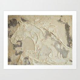 Horse in Stone Art Print
