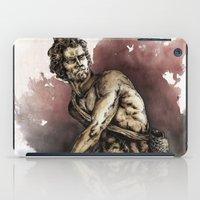 david olenick iPad Cases featuring David by maxandr