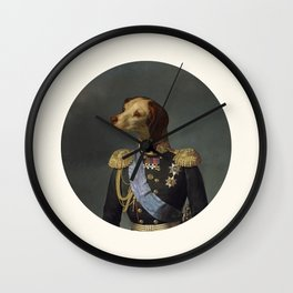 dog military Wall Clock