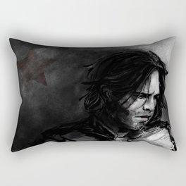 Charcoal and Winter Rectangular Pillow