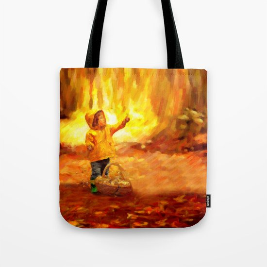 The Little Collector - Painting Style Tote Bag