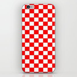 Checkers - Red and White iPhone Skin
